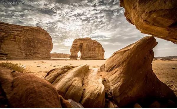 Скала-Слон в Саудовской Аравии