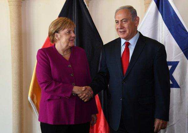 Ангела Меркель и Биньямин Нетаньяху.