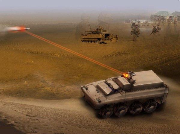 Для этого на базе одной из уже существующих бронемашин может быть оборудована лазерная пушка мощностью 60 киловатт.
