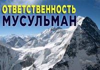 Эту ответственность побоялись нести даже горы, а человек нет...
