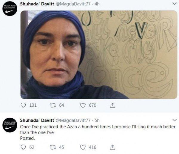 СМИ: известная певица Шинейд О'Коннор приняла ислам