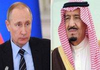 Король Салман рассказал Путину о ходе расследования убийства Хашкаджи