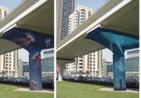 Художники расписали колонны метро Дубая