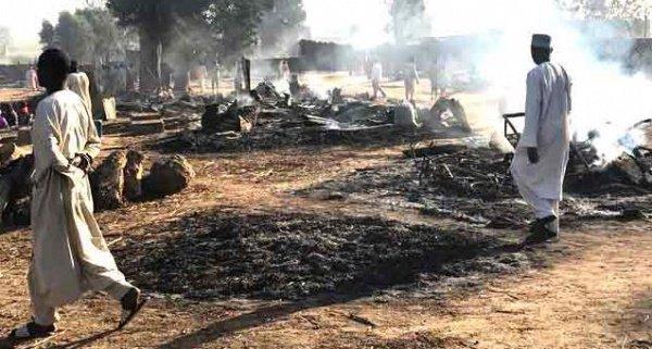 Страшные результаты нападения террористов в штате Борно.