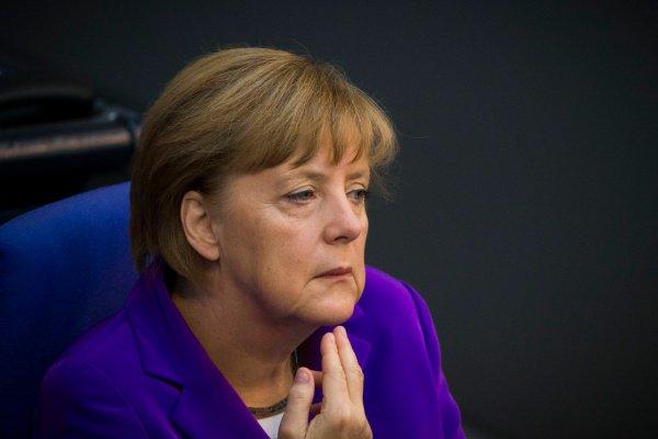 Ангела Меркель встретилась с жителями Хемница.