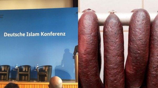 Колбаса из свинины на исламской конференции вызвала скандал в Германии.