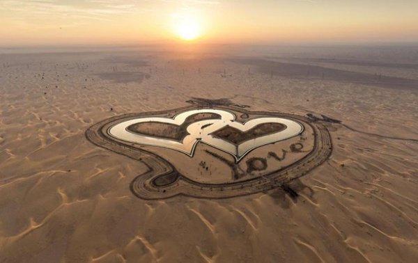 В Дубае появилось озеро любви