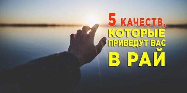 5 качеств, которые приведут вас в Рай