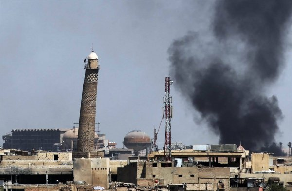 Мечеть ан-Нури до уничтожения.