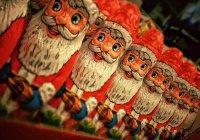 Йоулупукки и Дед Мороз встретились на границе Финляндии и России