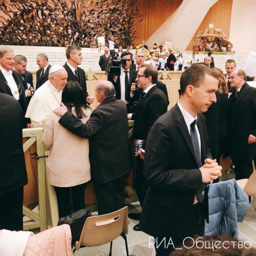 Фото со встречи Константина Хабенского с Папой Римским.