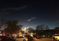 Загадочная полоса в небе напугала жителей Калифорнии