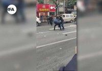 В Китае автобус протаранил толпу, есть жертвы