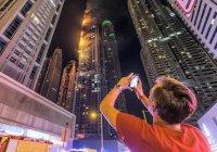 В Дубае небоскреб загорелся в третий раз