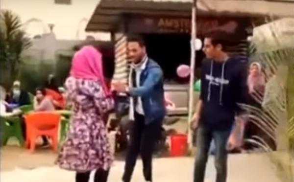 Кадр из скандального видеоролика.