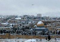 Иерусалим накрыло снегом впервые за четыре года