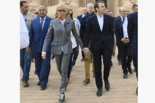 Бриджит Макрон в неоднозначном наряде в Египте.