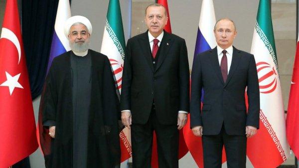 Лидеры России, Турции и Ирана обсудят Сирию.