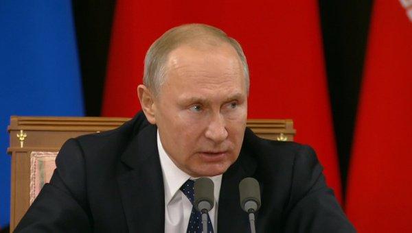 Владимир Путин назвал задач стран-гарантов астанинского процесса в Сирии и на Ближнем Востоке.