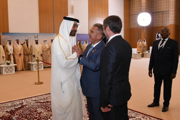Президент Татарстана с наследным принцем Абу-Даби.