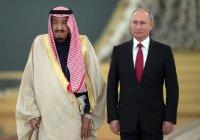 Путин провел переговоры с королем Саудовской Аравии